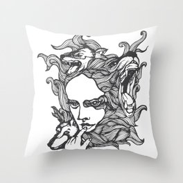 The Wolves In Us Throw Pillow