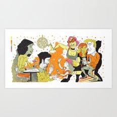 The Party (Amsterdam to LA) Art Print