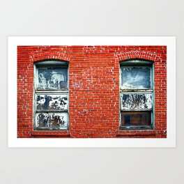 Old Windows Bricks Art Print