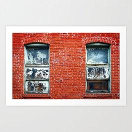 Old Windows Bricks Art Print