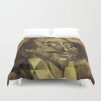 shakespeare Duvet Covers featuring William Shakespeare-wise and fool by sarvesh