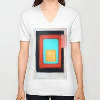 rothko V-neck T-shirts featuring Living Rothko by Heaven7