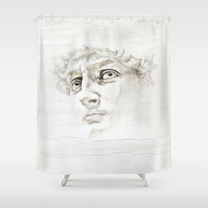 David di Michelangelo Shower Curtain