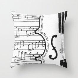 Violin Song Throw Pillow