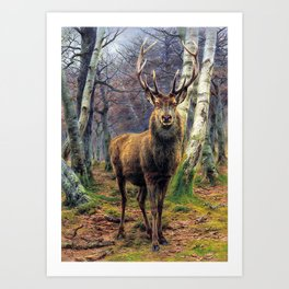 Rosa Bonheur - The King Of The Forest - Digital Remastered Edition Art Print