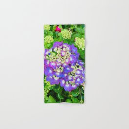 Purple Hydrangea photograph Hand & Bath Towel