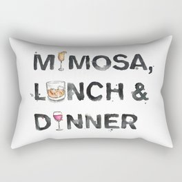 Favourite Things - Mimosa, Lunch & Dinner Rectangular Pillow