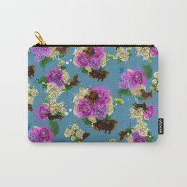 Floral Dachshund Carry-All Pouch