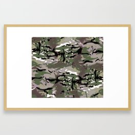 Camo Camo, and the art of disappearing. Framed Art Print