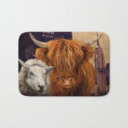 Sheep Cow 123 Bath Mat
