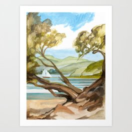 Summer At Coopers Beach Art Print