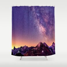 Sunset Mountain #stars Shower Curtain