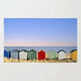 Beach Huts at Southwold (Suffolk/Great Britain) Rug