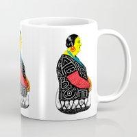 fat Mugs featuring Fat Woman by R. Gorkem Gul