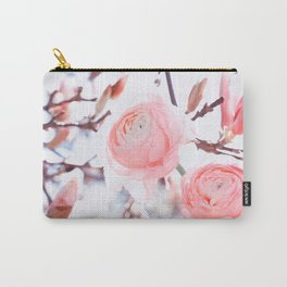noble floral pattern of magnolia and ranunculus flowers Carry-All Pouch