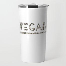 Vegan Black Design Travel Mug