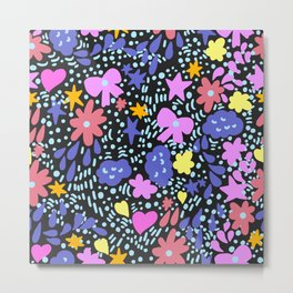 Funny flowers Metal Print