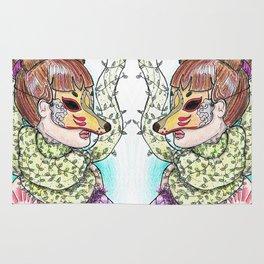 Girl Kitsune Rug