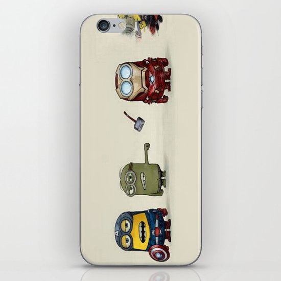 Minion Avengers iPhone & iPod Skin