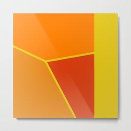 Artistic Abstract  in Orange Metal Print