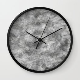 white / black smoke/ nicotine addiction Wall Clock