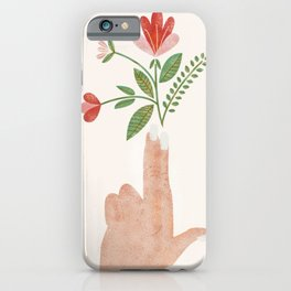 Floral Pistol iPhone Case