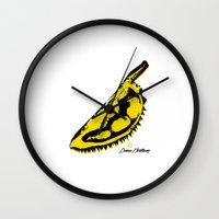 velvet underground Wall Clocks featuring Durian Underground by ariefarfarf