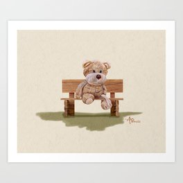 Cuddly At The Park Art Print