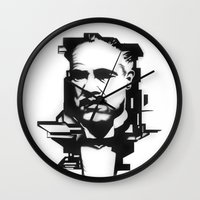 the godfather Wall Clocks featuring The GODFATHER by A. Dee