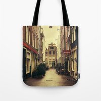 amsterdam Tote Bags featuring Amsterdam by Pati Designs