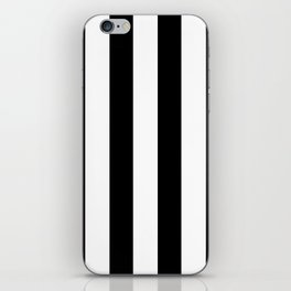 Simply Vertical Stripes in Midnight Black iPhone Skin