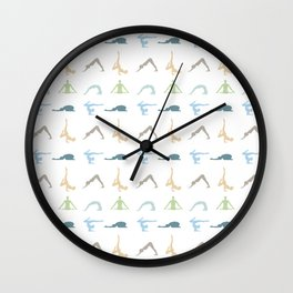 Power of yoga on the mind, body and soul Wall Clock