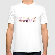 white harbor VI. SMALL White Mens Fitted Tee