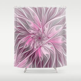 Abstract Pink Floral Dream Shower Curtain