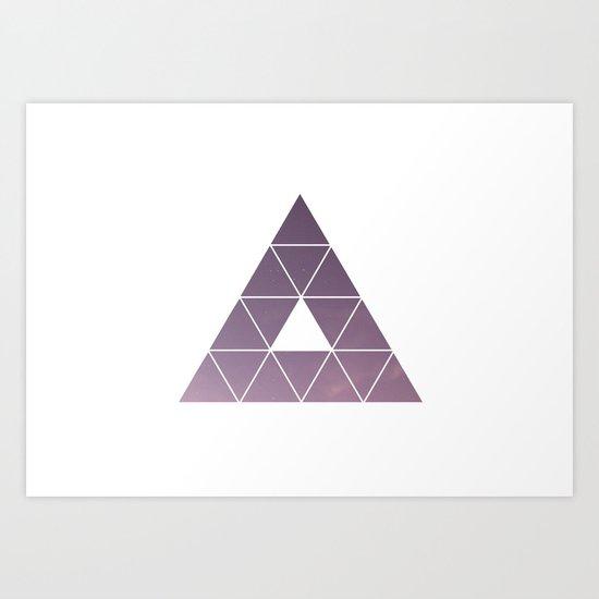 Pyramid Starry Sky Art Print