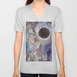 Super Moon Lunar Eclipse Unisex V-Neck