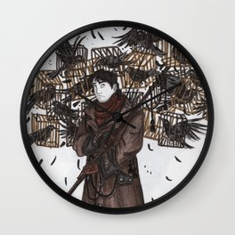 Wine in the Forest Wall Clock