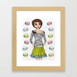 J'aime Les Macarons Framed Art Print