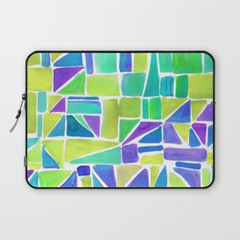 Watercolour Shapes Lemon Laptop Sleeve