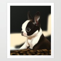 puppy Art Prints featuring Puppy by EliseBrave