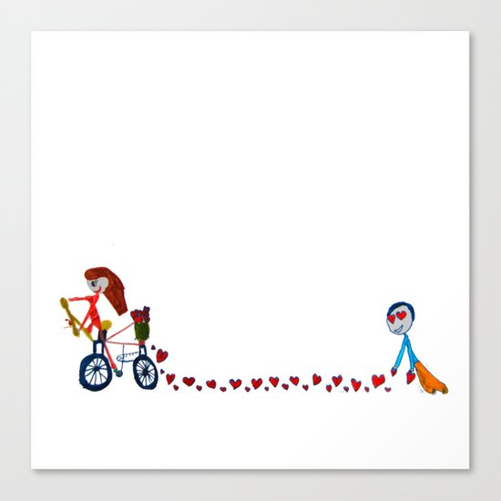 I'm in love | Be my Valentine | Kids Painting Canvas Print