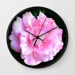 Pretty Pink Rose Wall Clock