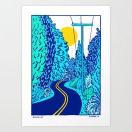 Bucoda, Washington by Swirvington Art Print