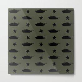 M1 Abrams Tank Pattern Metal Print
