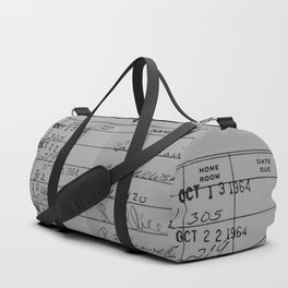 Library Card 23322 Gray Duffle Bag