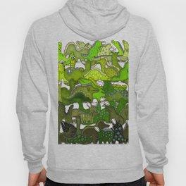 Green Dinosaur Gradient Hoody