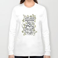 pasta Long Sleeve T-shirts featuring Smelly Pasta House by lrrra