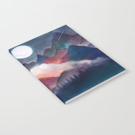 Mountain Lake Under the Stars Notebook