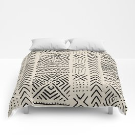 Line Mud Cloth // Bone Comforters