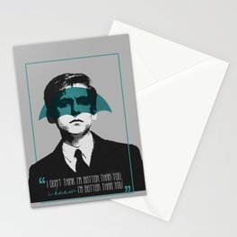 I don't think I'm better than you, I know I'm better than you - Five The Umbrella Academy Stationery Cards